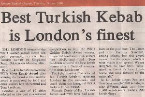 Best Turkish Kebab London s finest